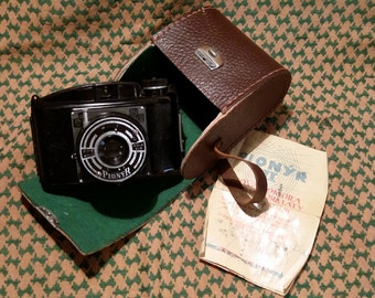 Vintage PIONYR Czechoslovakia Camera with Leather Case 1950s