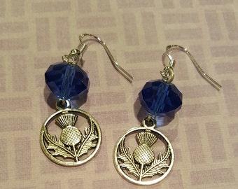 Scottish Thistle Earrings