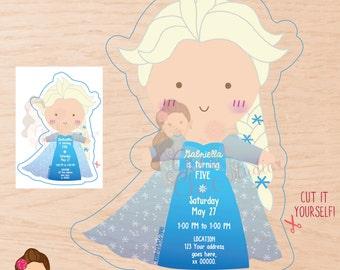 Frozen; Frozen Invitation; Elsa invitation; Frozen birthday invitation; Frozen Elsa invitation; Frozen digital invitation; Elsa digital invi