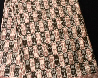 african print fabric (J006) pink and brown available per metre /african fashion/african dress/ african print / african fabric
