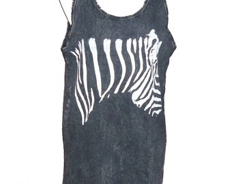 Cat tank top Meow cats animal tank top stone wash sleeveless shirt **singlet **black t shirt size M clothing