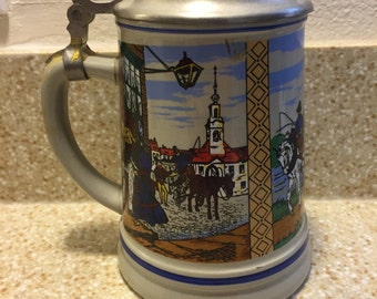 1960s - German Stein - Vintage Collectible - Beer Stein - Made in Germany - Hand Painted