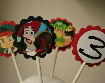 Jake and the Neverland Cupcake Toppers and more