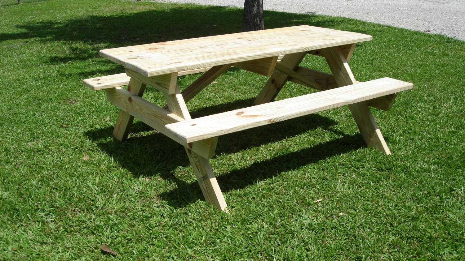 Handmade picnic table 6 foot x 5 foot solid by for 10 ft picnic table