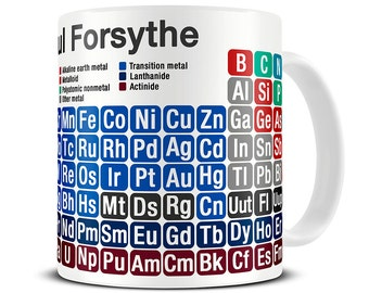 Personalized Periodic Table of Chemical Elements Mug - chemistry gifts for scientists - science gift - periodic table mug MG096