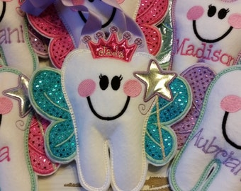 Personalized Tooth Fairy Princess Pillow~Girls Tooth Fairy Pillow~Princess Tooth Pillow~Princess Crown Tooth Fairy Pillow~Gift~Crown~Tiara
