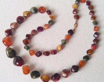 Beaded Necklace - Warm Autumn