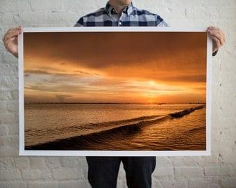 Florida Sunset Photography, Orange Skies, Orange Sunset, Sunscapes Photo, Coastal Scenes, Summer Scenes, Beach House Decor, Coastal Decor