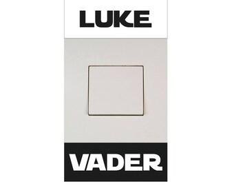 Star Wars switch sticker