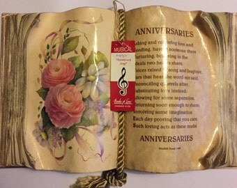 Musical Anniversary  Books of Love Handmade in The USA