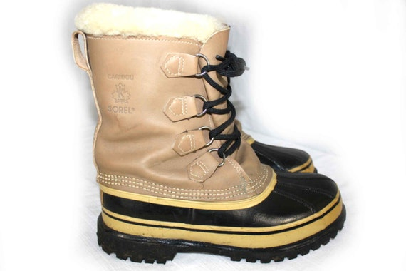 s sorel caribou winter lined boots by dievoltvintage