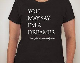 Imagine Lyrics T shirt, Beatles, John Lennon, World Peace
