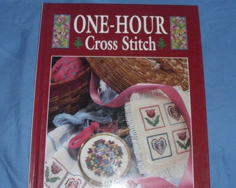 One-Hour Cross Stitch 1992 Oxmoor House 180 Designs That Can Be Made In One Hour