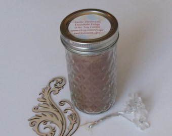 12 Oz. Highly Scented Soy Container/Jar Candle/Handpoured/Decorative Candle/Great Gift/LOW SHIPPING
