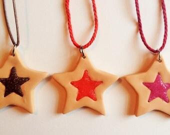 Jelly Shortbread Necklaces
