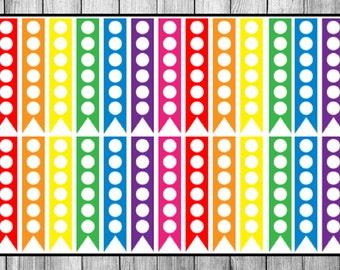28 Vertical Check List Flags