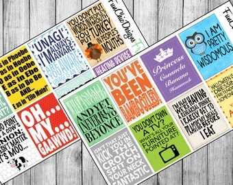 16 FRIENDS TV Show Quotes Version 1 | Planner Stickers