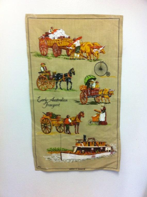 Vintage Wall Print Fabric Wall Handing Decor Table Decor