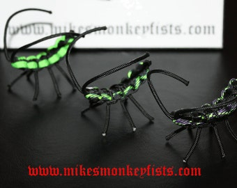 Paracord Toy Bugs - Set of 3 - Green Zombie Colors