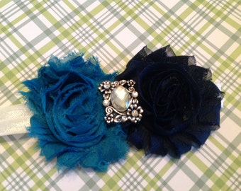 Navy and royal blue sgabby rose
