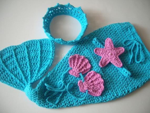 Crochet Mermaid Outfit/Baby Mermaid Tail/Baby by ...