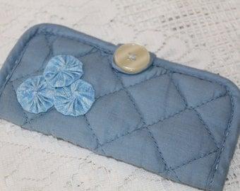 Blue Padded Sunglass or Eyeglass Case