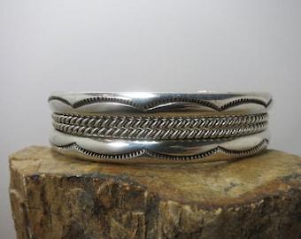 navajo sterling bracelet hand made