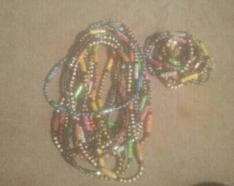 Beaded Necklace&Bracelet Set