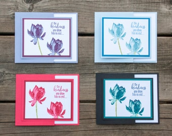 Trifold Thank You Cards, Handmade Stampin Up Greeting Card