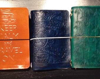 Custom Passport Size Leather Traveler's Notebook