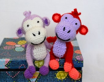 Little naughty monkey/ crochet toy/ 1 pcs