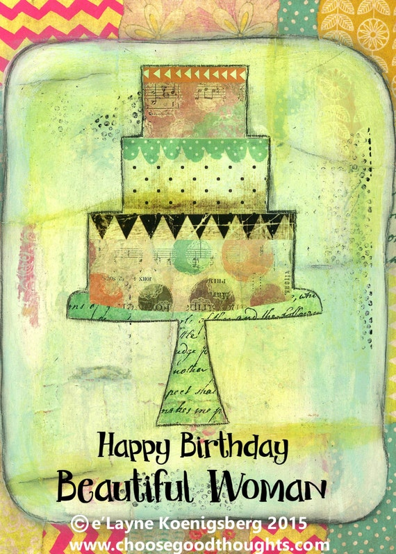happy birthday beautiful woman greeting card 75