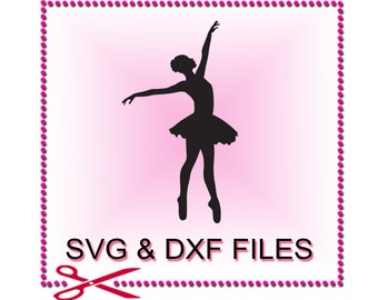 Ballerina SVG Files for Cutting Ballet Cricut Dance Designs - SVG Files for Silhouette - Instant Download
