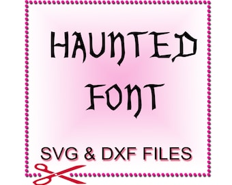 Halloween SVG Fonts for SVG Files for Cutting Cricut Monogram - SVG Files for Silhouette - Instant Download