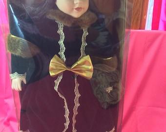 Vintage Holiday Elegance doll-winter