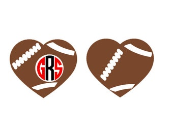 Football Heart SVG, Studio 3, DXF, EPS and pdf Cutting Files for Electronic Cutting Machines