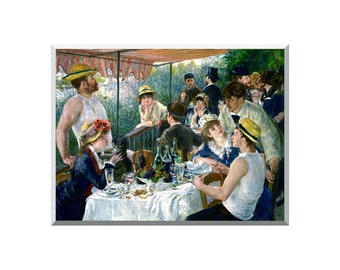 Luncheon of the Boating Party Pierre-Auguste Renoir Painting Reproduction Stretched Canvas Art Giclee Print - Sizes Small to Large - STM0024