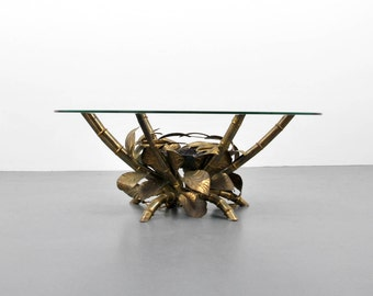 Christian Techoueyres Coffee Table with Agate Decoration, circa 1975