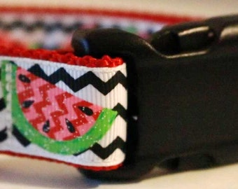 Summer Watermelon Dog Collar