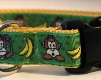 Monkey and Banana Dog Collar