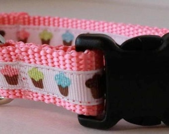 Mini Cupcake Dog Collar