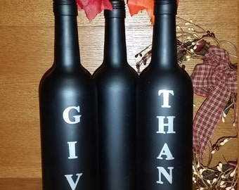 Decorative fall Wine bottles
