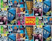 Doctor Who Comic Fabric