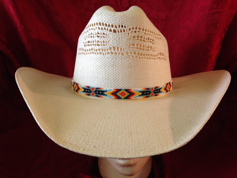 western decor cowboy beaded hat band by southwestbeads5802