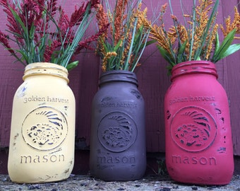 Autumn Golden Harvest Jars
