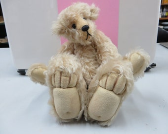 Beige Mohair Bear, Gift, Toy, Collectable