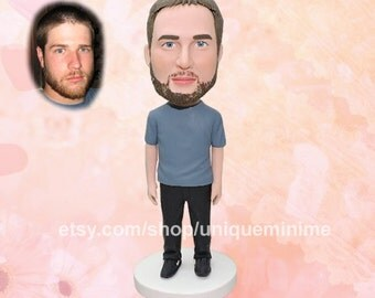 Custom bobblehead doll Valentine Gifts for Husband Valentines Day for Boyfriend