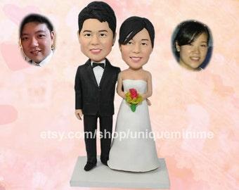Vintage bride and groom, cake topper, wedding cake, wedding cake decoration
