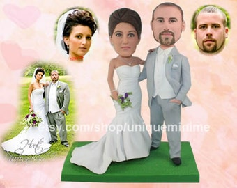 wedding cake topper cake topper funny bride and   groom figure figurines