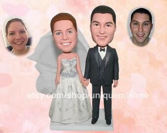 Custom Bobblehead - Custom Bride and Groom Cake Toppers, custom Soccer wedding cake toppers, Cake Topper, wedding cake topper